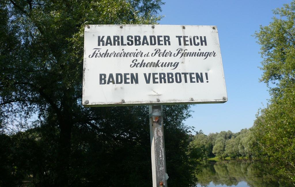 Weiterhin Badeverbot am Karlsbader Teich